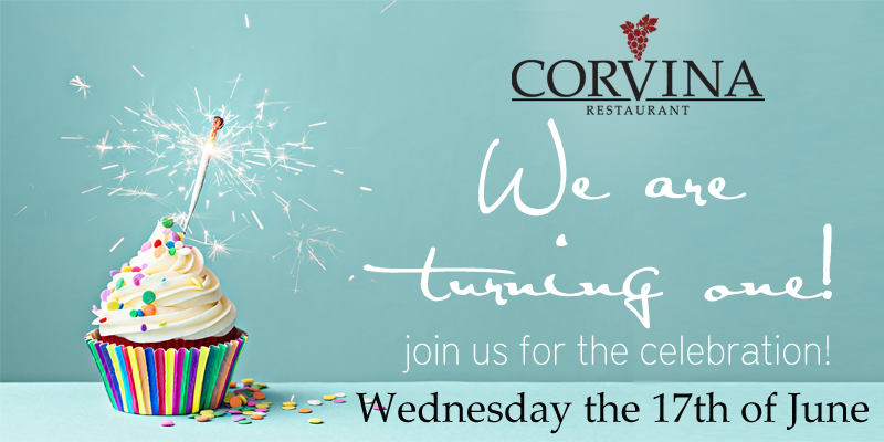 Corvina is turning one!